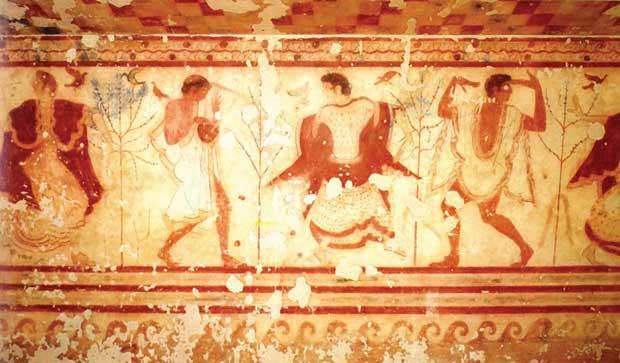 Affresco della Tomba del Triclinio 470-460 a.C. Tarquinia Museo Nazionale